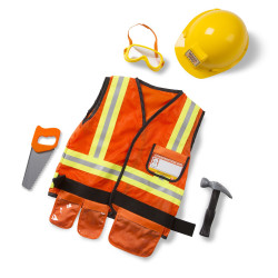 Melissa & Doug Construction Worker Role Play Costume Set, 3-6 years