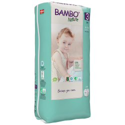 Bambo Nature Diapers Size 3 (4-8 Kg), 52 diapers