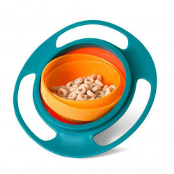 Baby Gyro Bowl Funny 360 Degree Rotate Spill-Proof Bowl with Lid